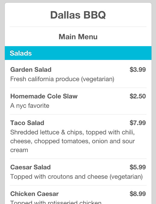 Foursquare now displays pricing menus powered by SinglePlatform
