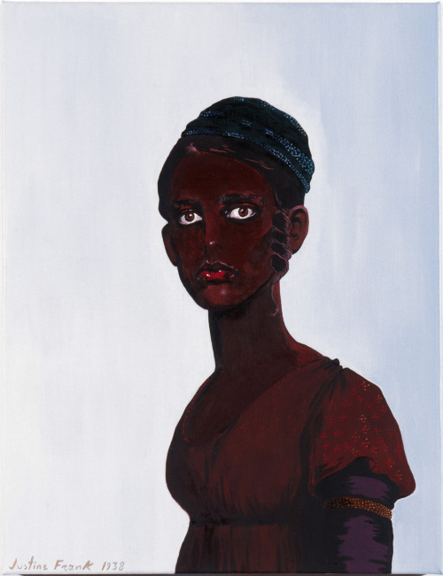 Justine Frank, Untitled (Self Portrait as a Black Woman), oil on canvas, 65X50cm, 1938