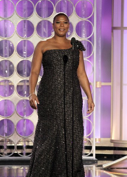 Queen Latifah At The 2012 Golden Globe Awards Show.