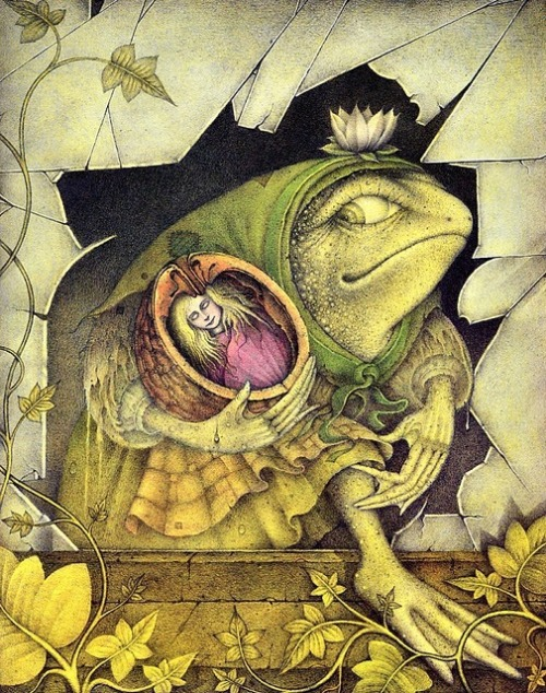 darksilenceinsuburbia:  Wayne Anderson. Thumbelina.  reblogging because of the name. it's däumelinchen in german :)