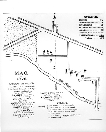 msufacts:  Map of campus, 1870.