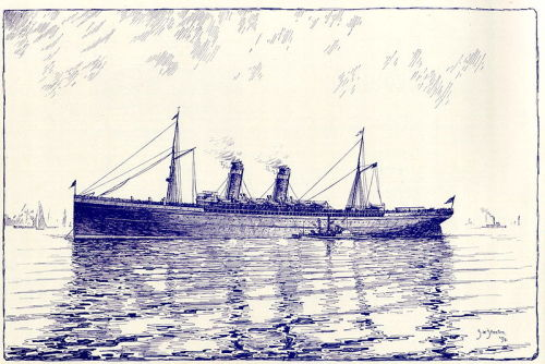 Transatlantic steamship of the late 1890s