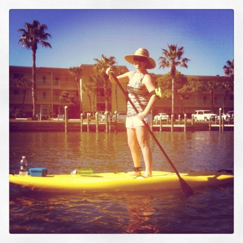 My first time paddle boarding! It was so fun! #Sarasota (Taken with instagram)