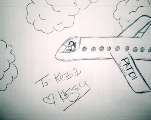 To: Kezia Love: Me((I bet you didn't know you knew how to fly commercial airplanes, but you do! Cool huh?!))