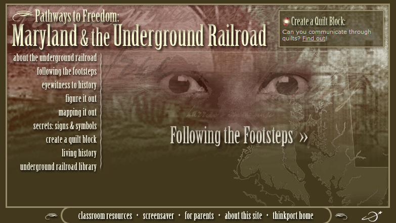Excellent Underground Railroad Resource! Pathways to Freedom: Following the Footsteps Includes interactives, video clips, teacher resources and more. Quality site. #elemchat #spedchat #sschat #blackhistory Included in… Black History Month LiveBinder You may also like… KB…Konnected's Kaleidoscope of Wonderful Websites (Black History edition) Freedom Riders The Travelin' Times