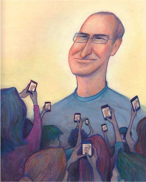 Welcome Back Steve Jobs Illustration