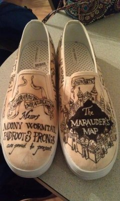 s4ywhat:  Harry potter shoes ive designed c: check out my other designs too!