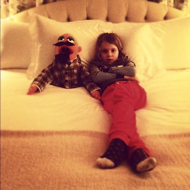 My niece Lola & Jack Coisantte at the Peninsula Hotel ( very fancy)