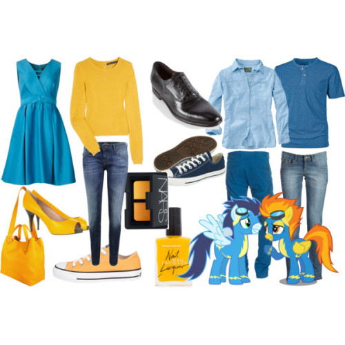 Soarin and Spitfire by mlpfashion featuring extra long sleeve shirtsZipper dress, $268Marc by Marc Jacobs extra long sleeve shirt, £117Woolrich button up shirt, $59Maison Scotch skinny leg jeans, $141Paul Smith wingtip shoes, $655Giuseppe Zanotti platform pumps, $258Converse shoes, $45Converse shoes, $45Jil Sander leather tote bag, $1,445Seven For All Mankind Trey Slim Blue Slim Fit Jeans In Used Look, €199MANGO Jean Slim Jean Delave, €25Granddad Plain T-Shirt, £20NARS Duo Eyeshadow Scorching Sun One Size, $33Nail Polish, $6