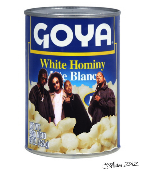 "partytime-with-jbv:  ""Bone Thugs in Hominy""*photoshop collage2012 *concept by crispen rosenkranz."
