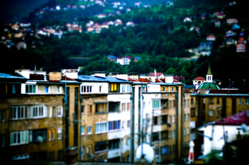 (testing a tiltshift application.) sarajevo, bosnia-herzegovina.