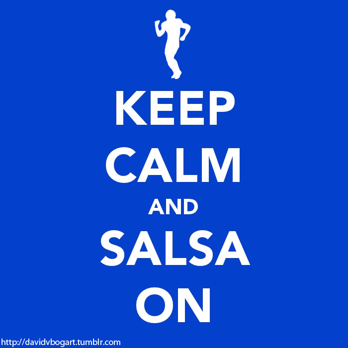 My own take on Keep Calm and Salsa On with the real cut out of @TeamVic