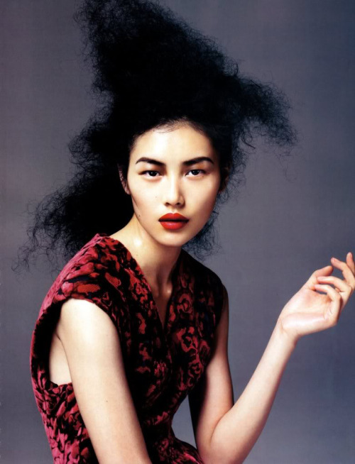 """The Essence Of Red"" Photograph: Kai Z FengModel: Liu Wen"