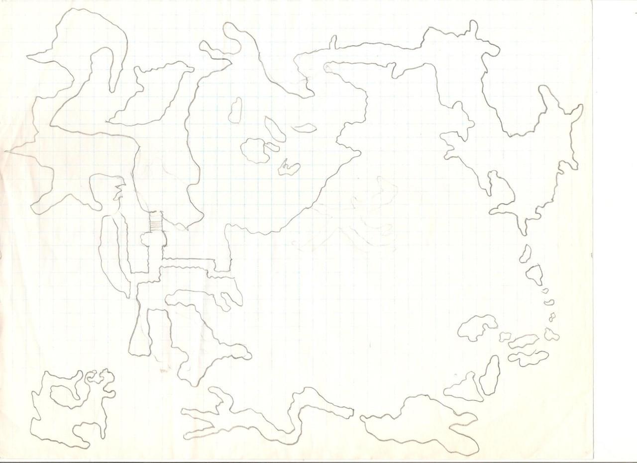 Final Fantasy 4 world map by Mapstalgia