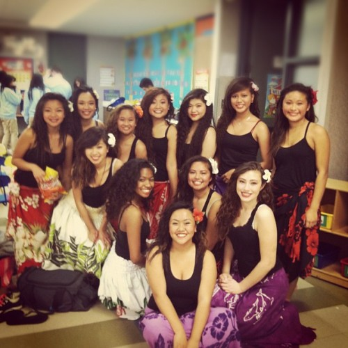 It's show time! My Polynesian girls. ❤ (Taken with instagram)