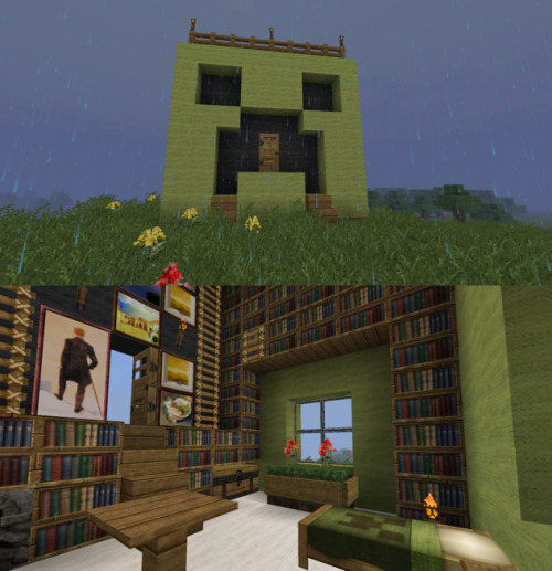 theminecraftbrothers:  Creeper house?  Efficient!