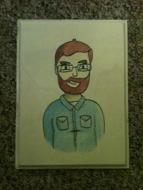 My Ross Boston style self portrait.