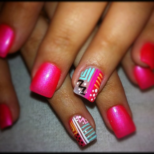 ##nails #kawaiinails #pink #nailartaddicts #polish #iphone #nailart  (Taken with instagram)