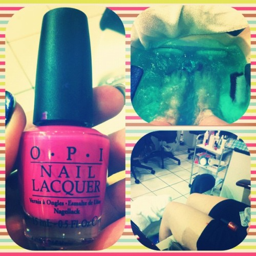 Pedicure time with @ignoringlessons  (Taken with Instagram at Fashion Nails)