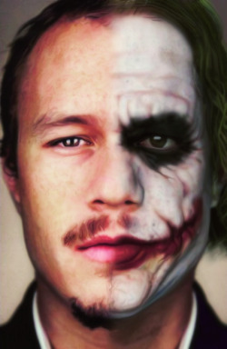 the joker heath ledger the dark knight R.I.P. Heath Can't believe it's been 4 years Your absence it still hurts I need to to know who made this photo though cause this is a special photo to me containing both my all-time fav Heath photos