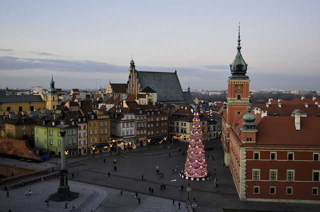| ♕ |  Warsaw square at dusk  | by © Piero Damiani