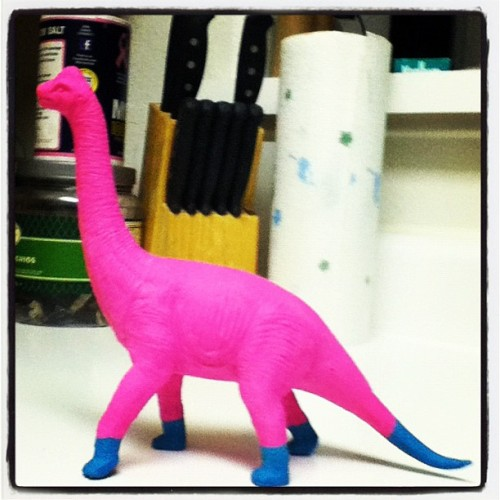 New coat of paint for Dino buddy.  (Taken with instagram )