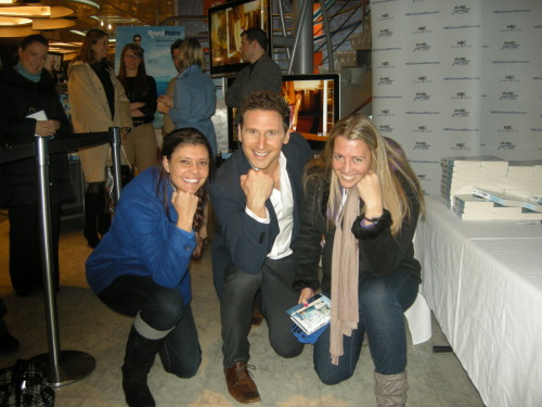 Tebowing with Mark Feuerstein of Royal Pains at his book signing in NYC.
