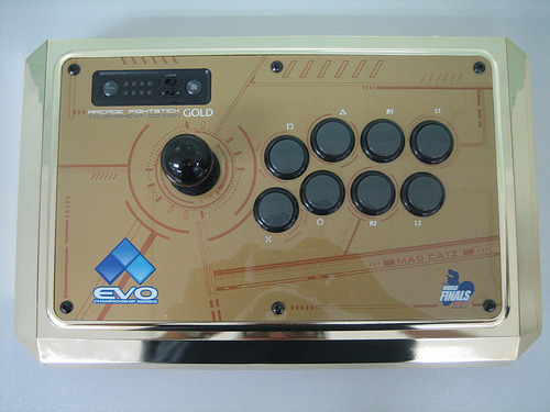 Mad Catz Tournament Edition Gold for Evolution 2010- Only 24 of these arcade sticks were made. The only chance to get a hold of one of these is by either placing top eight in Super Street Fighter IV at EVO2010, winning the ladies SSFIV event, OR via raffle live at the event or by watching the EVO2K live stream!
