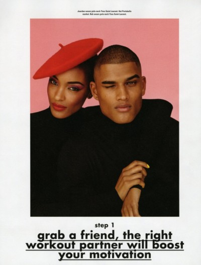 [Jourdan Dunn & Rob Evans in The Perfect Pair][As featured in the Winter 2011 issue of i-D Magazine][Wardrobe includes pieces from Jimmy Choo, Yves Saint Laurent, Versace, & Moschino] Aside from the fact that these are two of my favorite models and [role] models, I'm loving this spread from i-D's Winter Warm Up issue. I appreciate simple spreads like this that don't require much more than skilled models, a nice wardrobe, and a good eye behind the camera. This shoot actually reminds me of a simplified version of the 2010 shoot for The Contributing Editor titled Two of Hearts, which featured Wendell Lissimore and Sessilee Lopez. I wish they would have found Rob and Jourdan for that shoot and given this one to Wendell and Sessilee. The other shoot was a lot more fun and featured both models more equally. I'd take Jourdan and Rob over Wendell and Sessilee any day… No offense. :p   If you really look at Jourdan Dunn hard, she looks like a mix between Sade and Meagan Good.    I was right, huh?