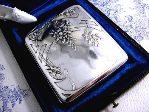 Antique Art Nouveau cigarette case