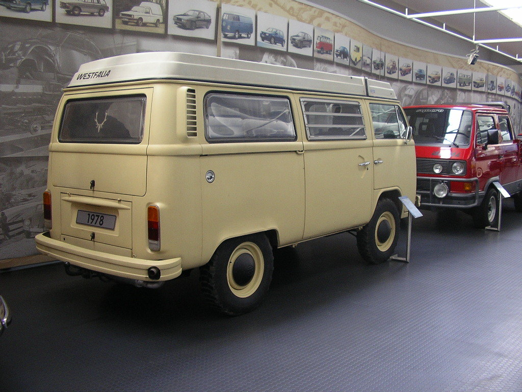 rare prototype of a 4-wheel-drive T2 Volkswagen Westfalia camper van — this model never made it to production