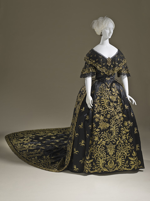 Court dress, ca 1845 Portugal, LACMA