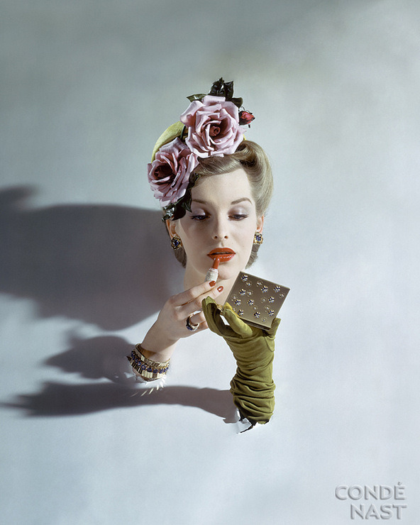 Flowered Hat by John Rawlings, Vogue, 1943