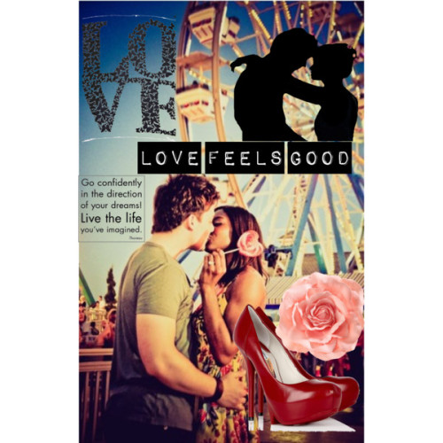 Love feels good by nicolerpr featuring red stiletto heelsCamilla Skovgaard red stiletto heels, $553H M flower hair accessory, £1.99Love Butterfly Scarf, $25Go confidently - Thoreau, $4.95