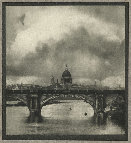 St. Paul's from the River Coburn, Alvin Langdon, b.1882-1966 London, 				1910 17.1 x 19.1 cm Photogravure