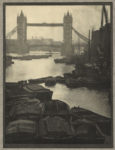 The Tower Bridge Coburn, Alvin Langdon, b.1882-1966 London, 				1910 16.5 x 21.2 cm Photogravure