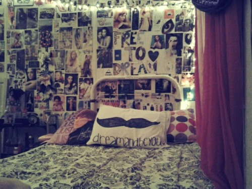 bedroom tumblr room lights posters hipster room cute mustache
