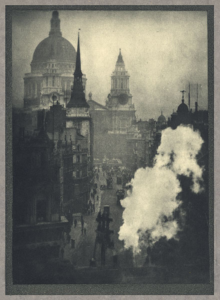 St. Paul's From Ludgate Circus Coburn, Alvin Langdon, b.1882-1966 London, 				1910 16.5 x 22.7 cm Photogravure  Joseph Pennell via