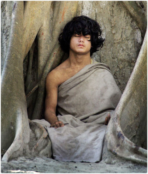 "sphnyx:  ram bomjon is a 16-year-old boy born and living in the village of Ratnapur who allegedly is in the process of transforming into the next incarnation of the Buddha. It has been claimed that the so-called ""Buddha Boy"" has been sitting under a pipal tree in uninterrupted meditation since May of 2005. According to the set of people who surround and control access to Ram Bomjon, he asserted just before sitting down that he was entering into a six-year meditative state in order to attain enlightenment, a la the original Buddha Siddhartha Gautama. According to the same set of people who surround and control access to Bomjon, he: has not stirred from his meditation since May 2005, has had nothing to eat since May 2005, has continued meditating even after being bitten by a snake, and has caused two mute people in proximity to him to begin to speak.   I remember when this happened.  It was during a very traumatic time in my life and I kept the article taped to my wall so I could see him every day.  I think I just took it down when I moved my desk across the building last year."