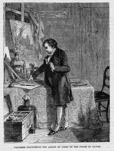 """Daguerre Discovering the Action of Light on the Iodide of Silver"""