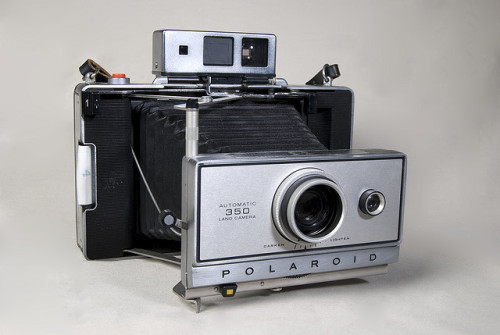 Polaroid Land Camera 350 by carrie.burnett on Flickr.