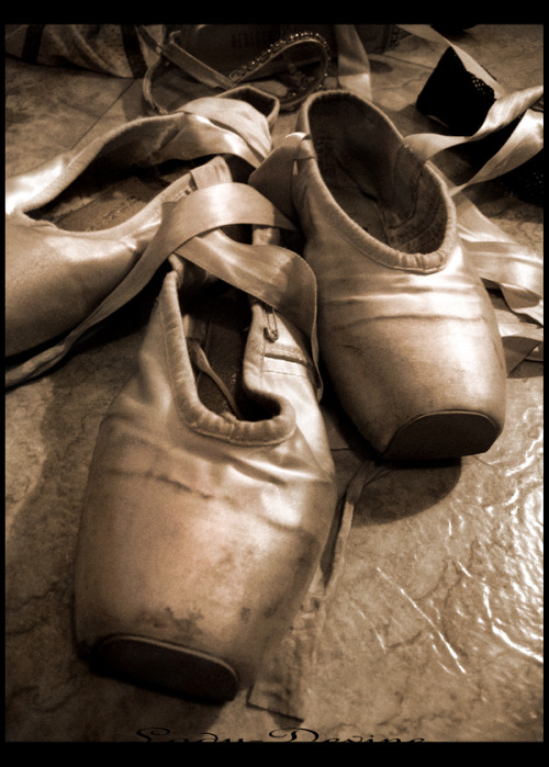 A Real Dancer's Shoes.