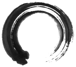 "Dang I love Zen circles! substancem:  ""Ensō (円相) is a Japanese word meaning ""circle"" and a concept strongly associated with Zen. Ensō is one of the most common subjects of Japanese calligraphy even though it is a symbol and not a character. It symbolizes the Absolute enlightenment, strength, elegance, the Universe, and the void; it can also symbolize the Japanese aesthetic itself."""