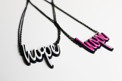 2 Hope Necklaces for 2 Best Friends Make your custom order today! More items like this at www.handmadecre8tivesoul.etsy.com