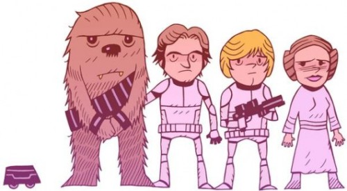 starwars-inspration:  Star Wars / Han Solo / Chiwbacca / Luke Skywalker / Princess Leia