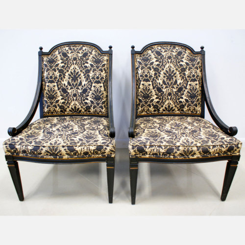 Fab.com Flash Sale. Pair of Statesville Side Chairs, 34% offFab.comThe kind of pieces that carry an air of Hollywood glamour, these Statesville Side Chairs bring a touch of classic design to any space. Sourced by the buyers at The Modern Historic, these beautifully crafted chairs feature wood frames and rich beige-and-black floral upholstery.