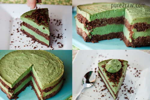 lovejam:  (via raw chocolate mint avocado layerd cake — pure2raw)