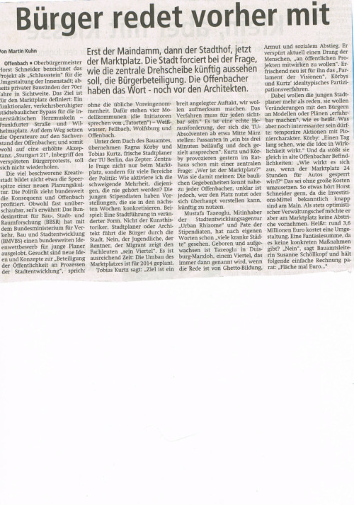 "Press Clipping, ""Offenbacher Post"", 20.01.2012"