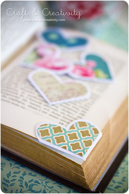 prettylittlepieces:  Paper Heart Bookmarks