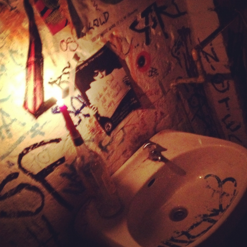 Jena, bathroom.